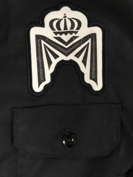 Printed Patch with Clean Edge Embroidery